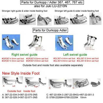 Parts For Durkopp / Adler 367,467,767 Etc