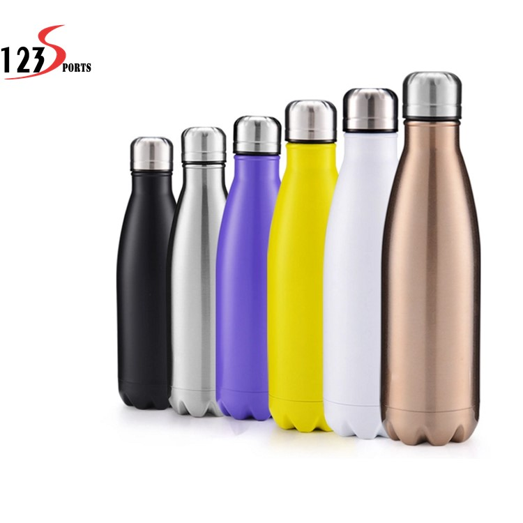 Wholesale BPA free Sports Water <strong>Bottle</strong> Double- wall Stainless Steel 500ml/750ml ss Water <strong>Bottle</strong>