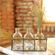 Muti-purpose Wholesale Small Rectangle Decorative Metal Chicken Wire Basket Or Planter Or Candle Holder With Wooden Handles