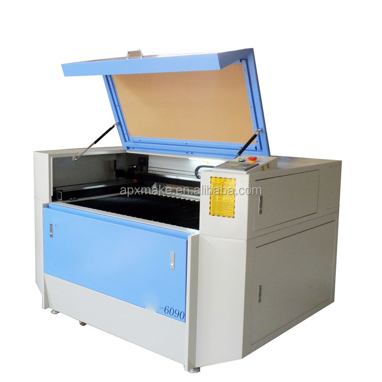 6090 Co2 laser engraving cutting machine 100W cut acrylic Logo