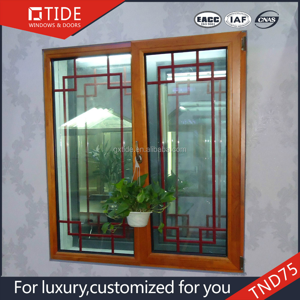 Tnd75 Tide Windows Aluminum And Wood Window Grill Design For Homes ...