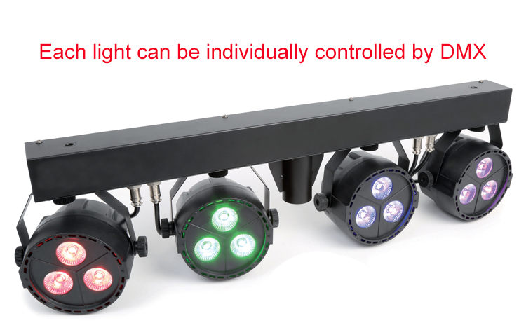 12x4W RGB UV 4in1 Individual Control DJ Wash Lighting Package LED Par Light Kit with Tripod Stand and Carry Bag