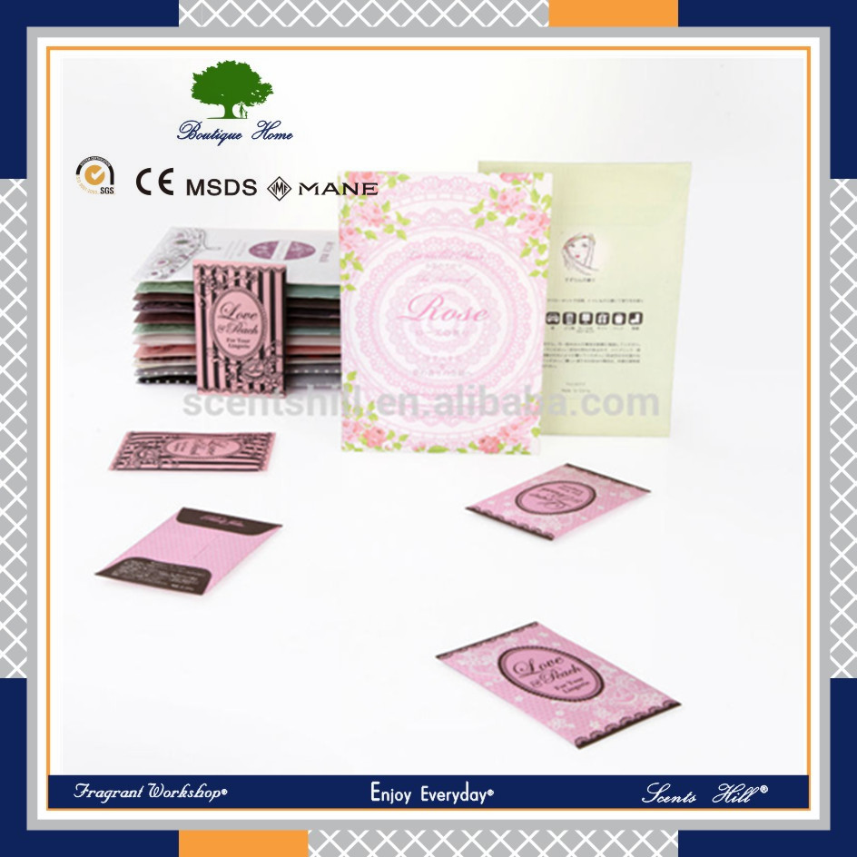 Scented stone Wardrobe laundry appliances Sachets Hanger Air Freshener scented envelop Aroma Fragrance Sachets