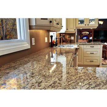 Elegant Faux Butterfly Beige Granite Countertops