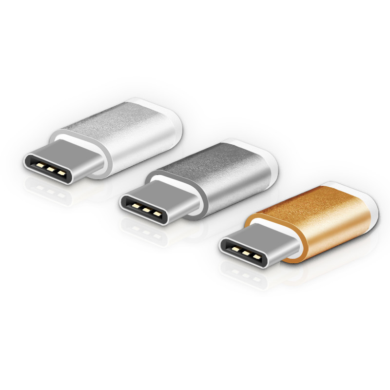 Millionwell metal micro to type c adapter usb type-c adapter for macbook samsung LG