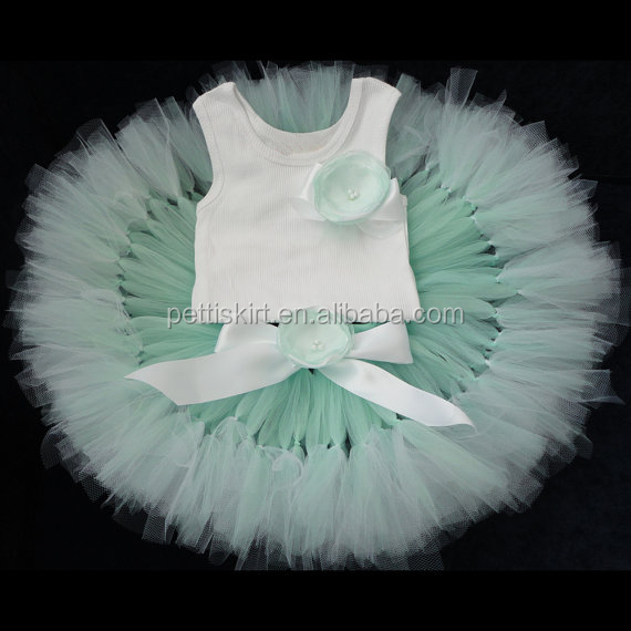 wholesale children clothing hand made tutu skirt with top child dress
