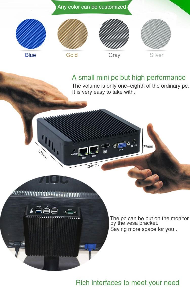Quad Core J1900 Nano Computer Low Power Mini Pc For