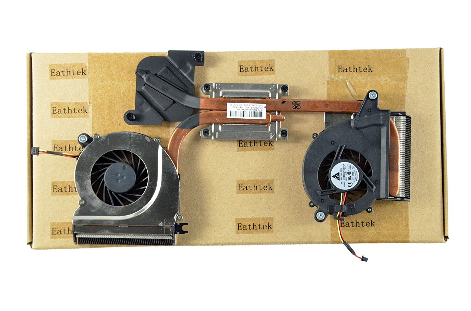 Eathtek Replacement CPU Cooling Cooler Fan with Heatsink for HP Envy 14 14T series, Compatible with part number 608378-001 KSB05105HA