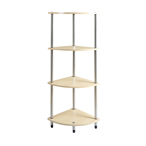 Cheap Sales 4 Tiers Corner Storage Racks Modern Space Saving Wall Side Tables