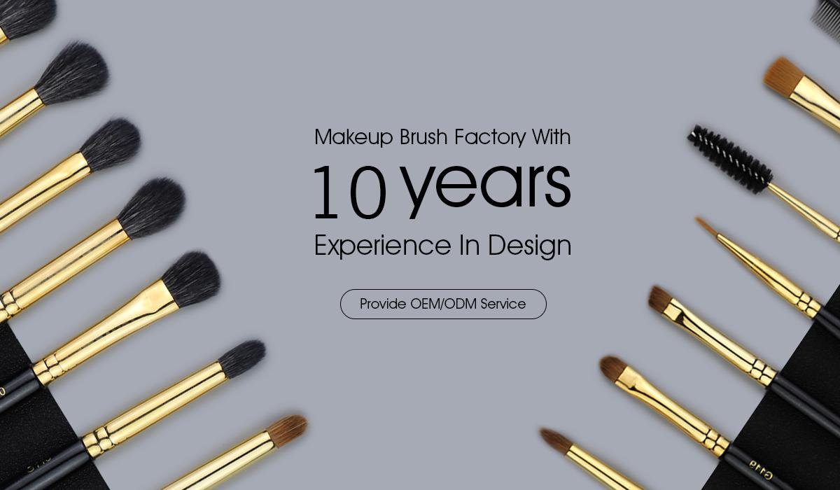 Kuas Kosmetik Make Up Brush Campuran Kontur Datar International Cylinder Case Sbs002bk 11 Polka Dot Black Set Shenzhen
