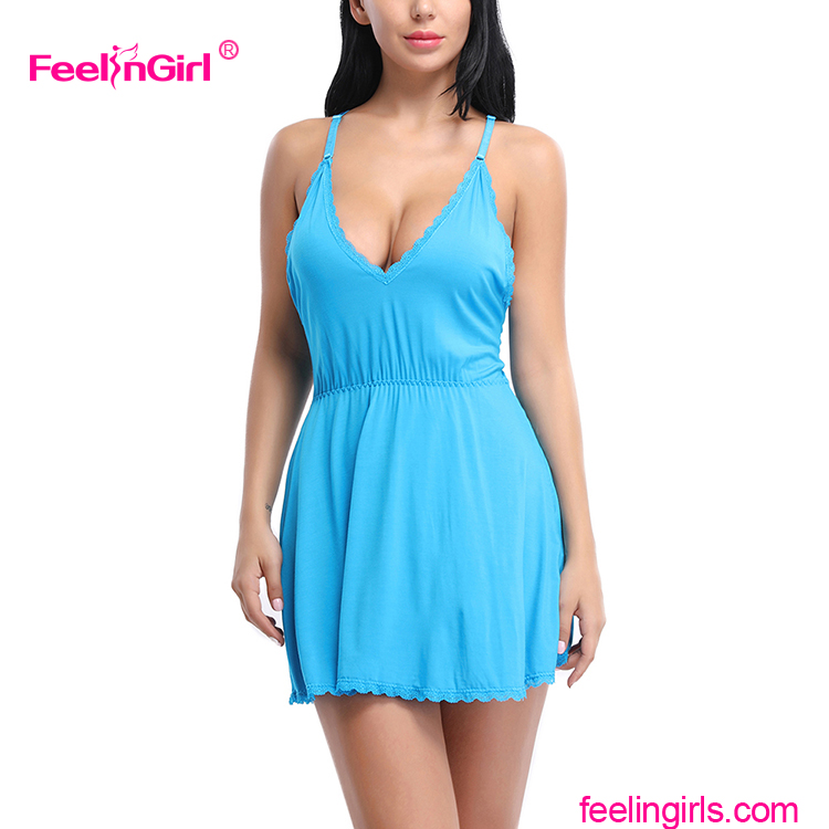 d3ef4c048e Light Blue Sexy Night Dress China Baby Doll Wholesale Lingerie ...