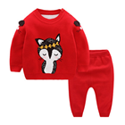 2019 Baby boys Girls Clothes Set Pullover+ Pants Baby sweater clothing set