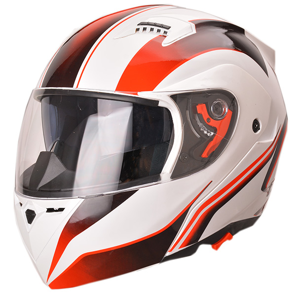 2016 new DOT approved dual lens flip up motorcycles helmet for sale with custom decals