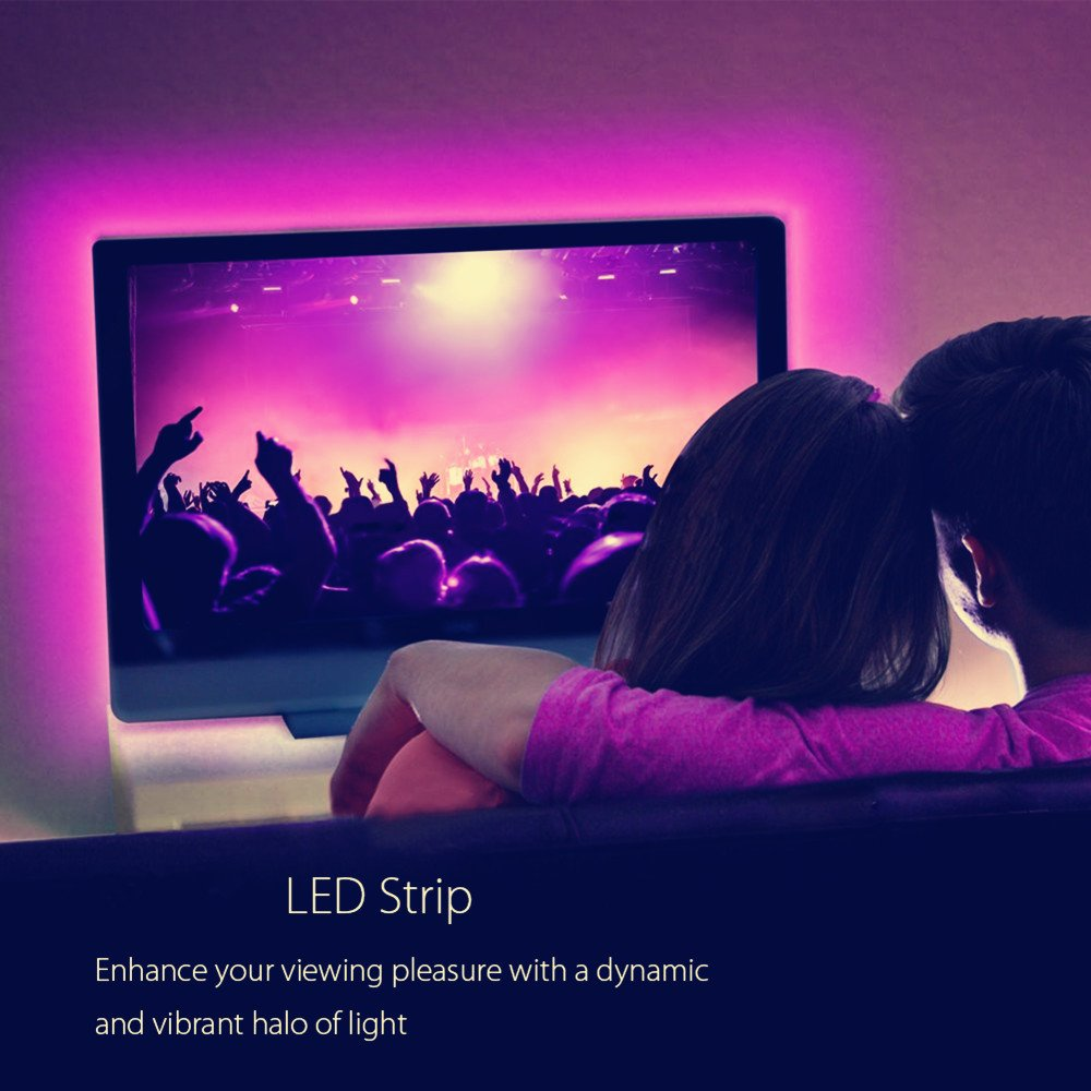 HL LED TV Light with Remote TV BackLight 9.84Ft RGB Color Changing Light for 32- 70 Inch TV/Monitor