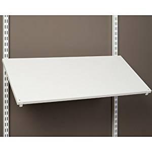 freedomRail Pre Drilled Shoe Shelf White 30 Inch