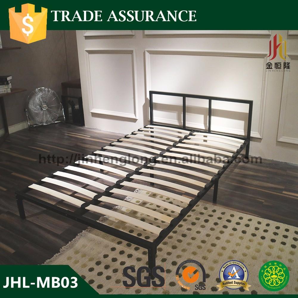 Venta caliente KD estructura metálica cama con listones de madera ...
