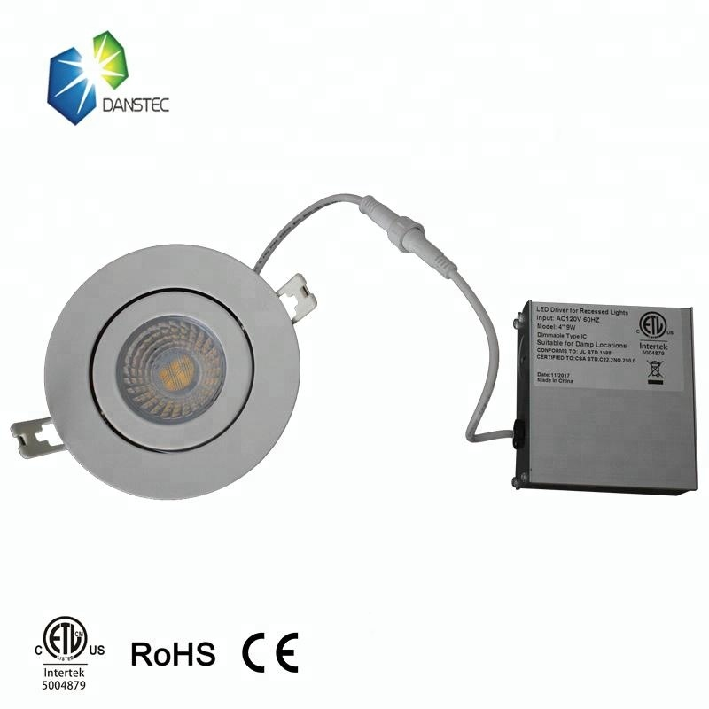 High quality 9W Gimbal LED <strong>downlight</strong> 4 inch led recessed light gimbal
