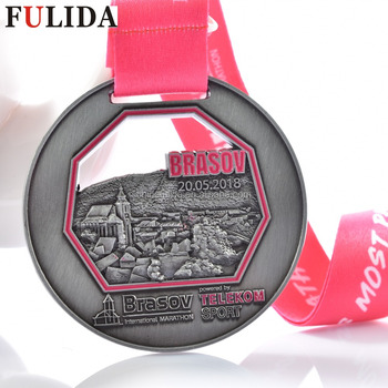 customized 3d die casting Antique bronze custom marathon medals