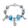 New bead Murano bracelet with crown pendent bracelet