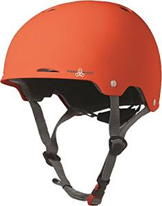Triple 8 Gotham Helmet L/XL-Orange Rubber Cpsc/Astm