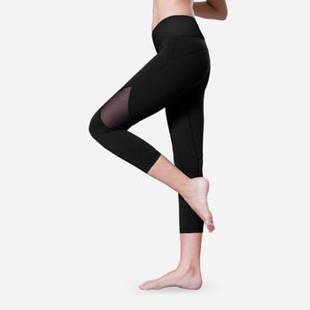 ce5fbc398 Mais novo sem marca roupas de cintura alta com bolsos leggings esporte  leggins de fitness calças