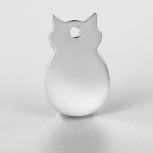 Cute high polish animal shape silver blank dog cat collar pet tags charm