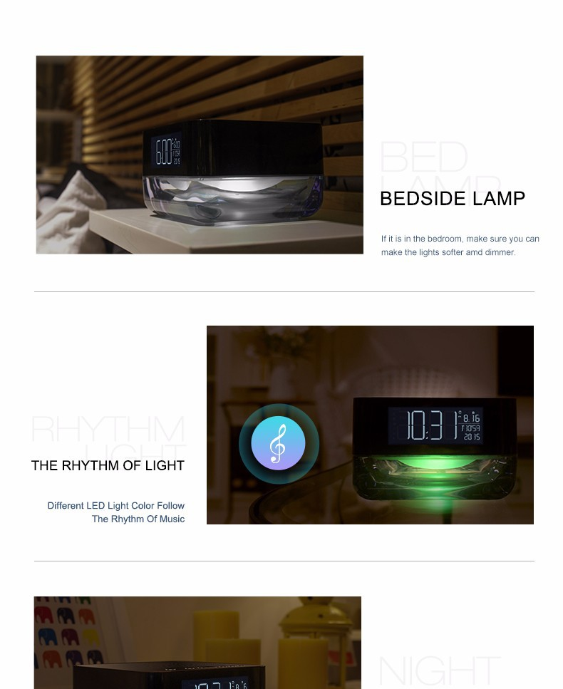 Wholesale Portable Wireless Bluetooth Speaker with Alarm clock and ...