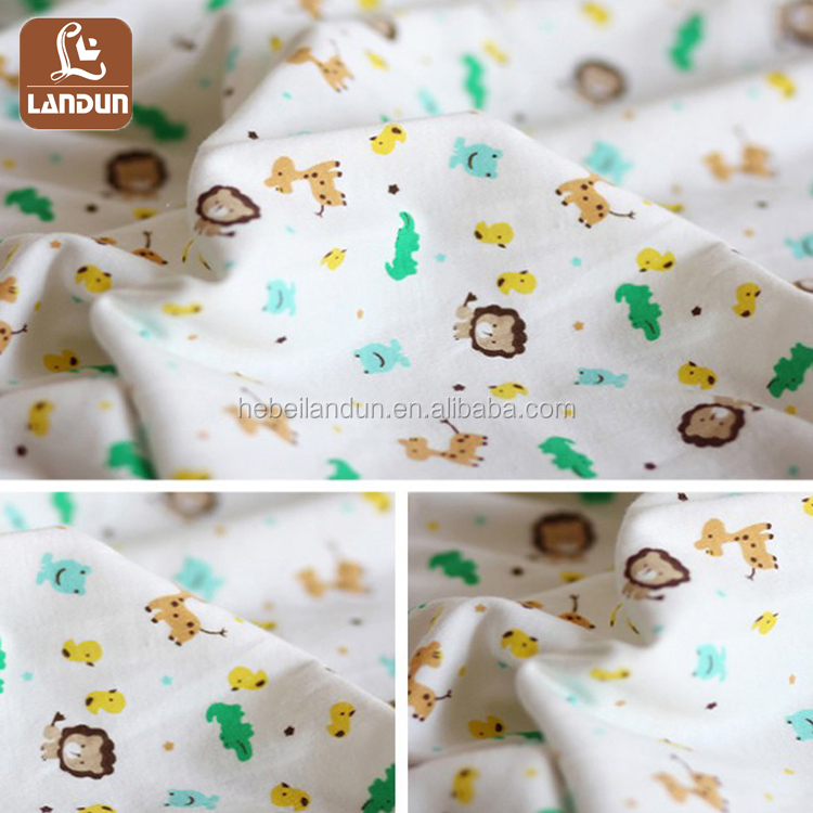 Baby Cartoon Printing Knitting Cotton Interlock Fabirc