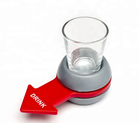 Wholesale Table Party Funny Wine Glass Shot Spinner Drinking Game Set Spin The Shot/shot glass game /beer pong game