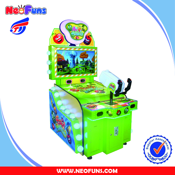 Fruit Rebellion Video Gun Shooting Kids Indoor Game Tickets Out Redemption Game Machines