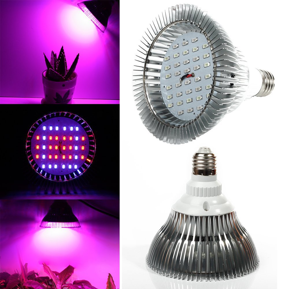 XJLED High Power LED Grow Light 36W E27 AC85-265V30 Red:22 Blue Horticulture Grow Lamp Greenhouse Bulb for Flowering Plant & Hydroponics System