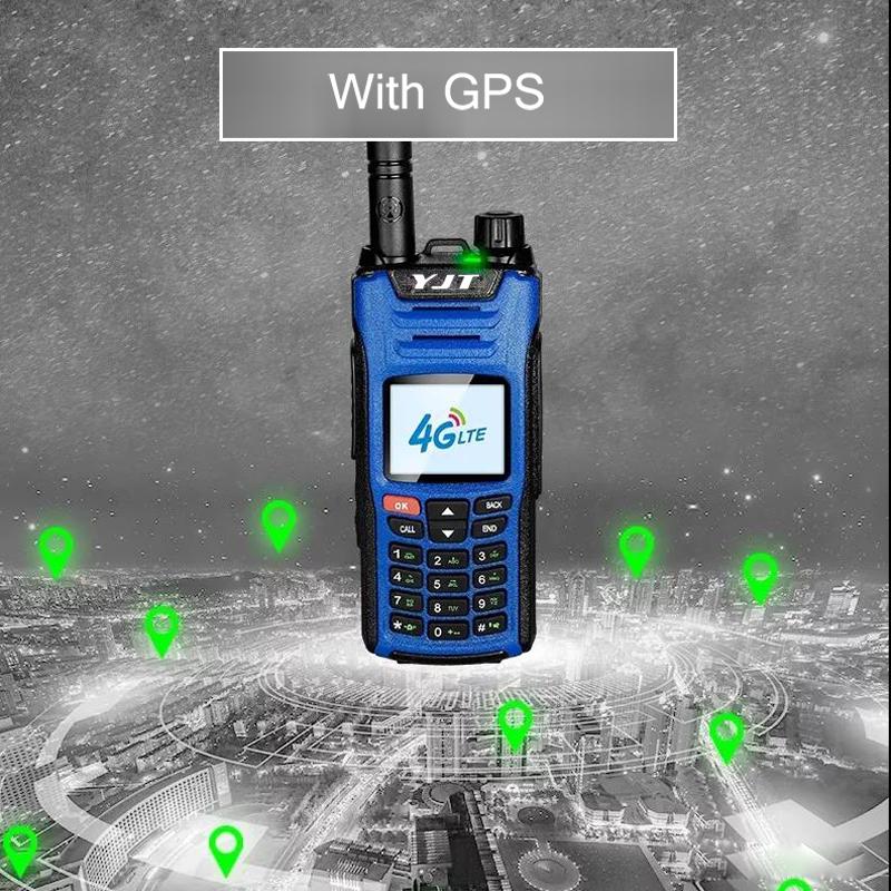 Walkie-talkie HIZBAO GT-880 satélite 3G 100 milhas com GPS