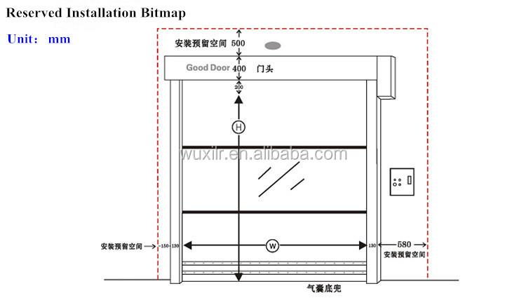 Pvc Fast Rolling Door Industrial Radar Sensor Clean Room High Speed Door -  Buy Pvc Fast Rolling Door,Clean Room Door,High Speed Door Product on