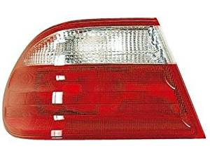 DRIVER SIDE TAIL LIGHT Mercedes-Benz E320, Mercedes-Benz E430, Mercedes-Benz E55 AMG OUTER ASSEMBLY; FOR SEDAN MODELS; WITH CLASSIC AND ELEGANCE PACKAGE; WITH CLEAR LENS