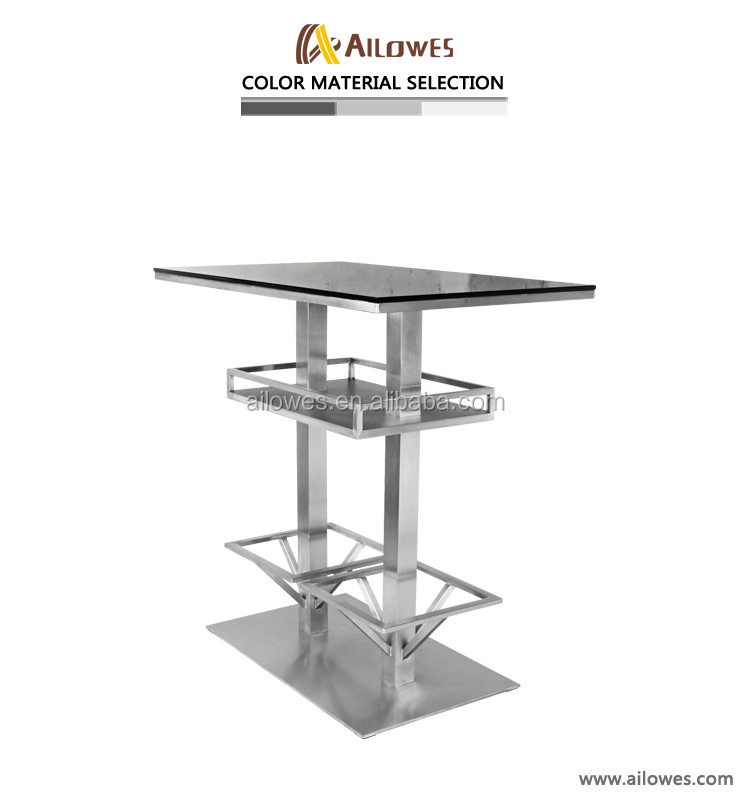 hot sale modern bar table tempered glasses high table sets
