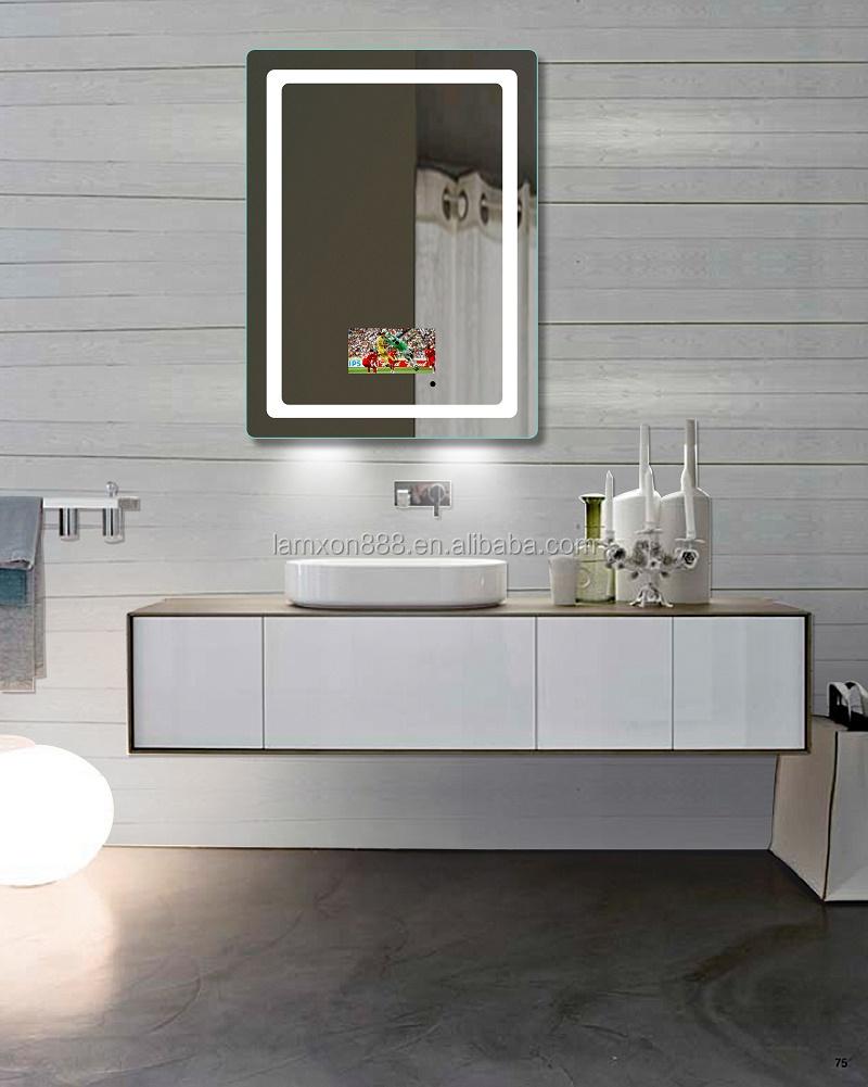 Salle De Bain Marbre Beige Et Bois ~ meilleure qualit led tv miroir salle de bains led r tro clair