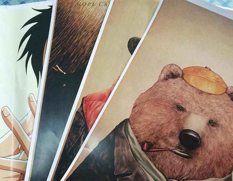 Atacado personalizado A1 A2 A3 serviço de impressão de papel de parede anime poster