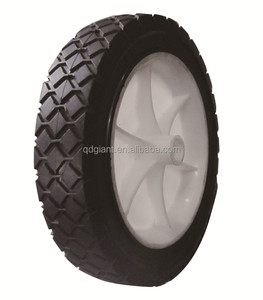 "semi solid rubber tire 7x1.5 semi solid wheel 7"" for lawn mower"
