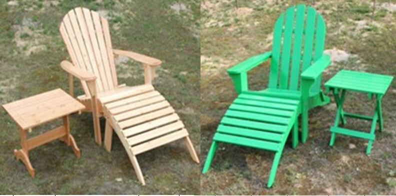 Nico adirondack sillas blancas de muebles de madera for Sillas jardin blancas