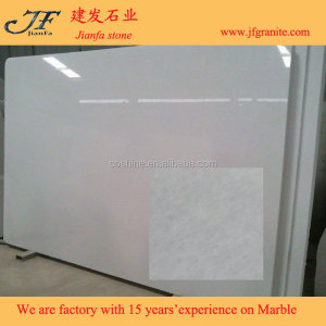 Famous Pure White Super Thin Marble Slab For Bathroom