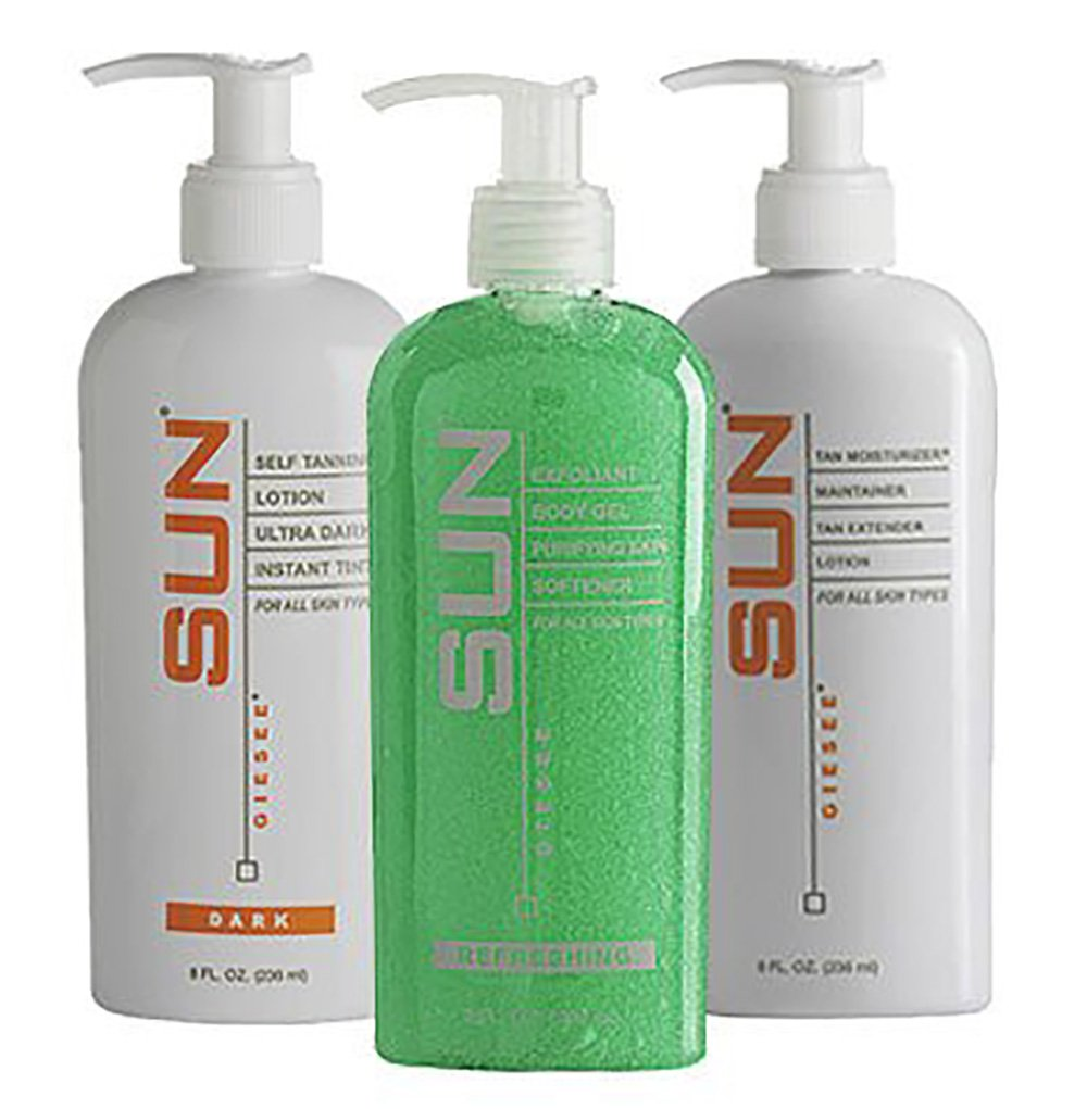 Sun Laboratories Tan Overnight (Medium) Self Tanning Lotion Set with Sun Laboratories Sunless Tanning Mitt