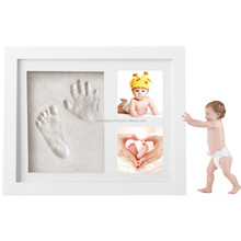 Baby first year souvenir - newborn baby collage photo frame / wood baby picture frame