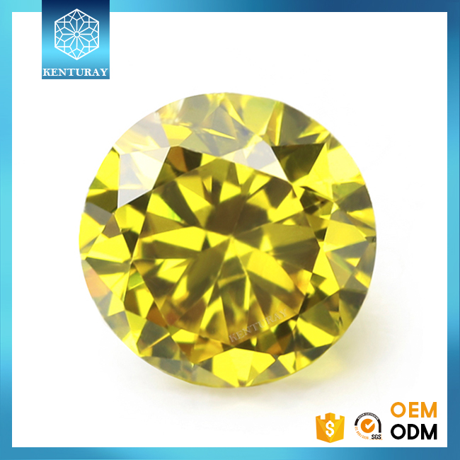Precious Cz Beads Yellow Topaz Diamond For Engagement Wedding Ring