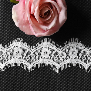 "Lace Trim DIY Craft Ribbon Scalloped Edging 2"" Wide Floral Lace Trimming Bridal Wedding Table Tops Card Boxes and Gift"