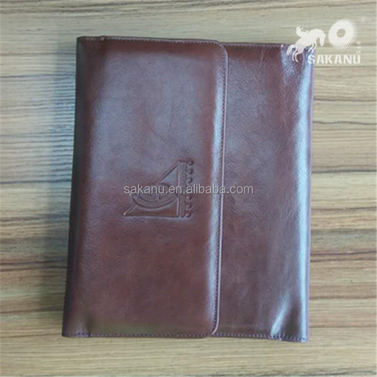 A5 lederen bestand tas document zak A4 pu leather portfolio voor tablet