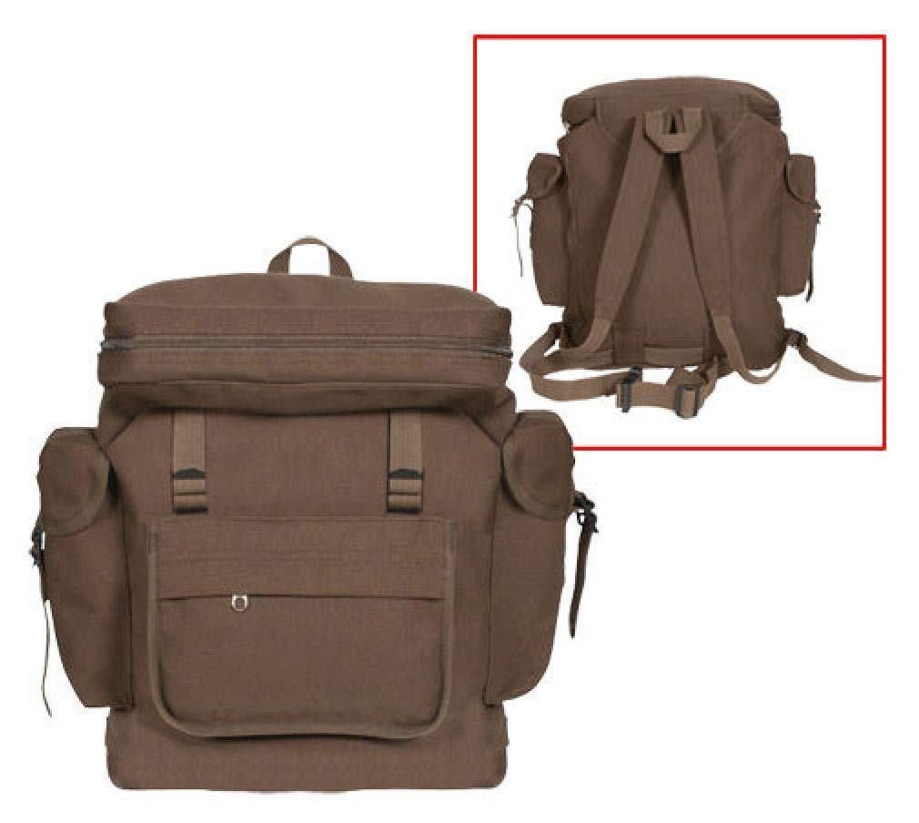 f08855d2cf Get Quotations · BlackC Sport New Earth Brown European Style HW Canvas  Rucksack Backpack Bag