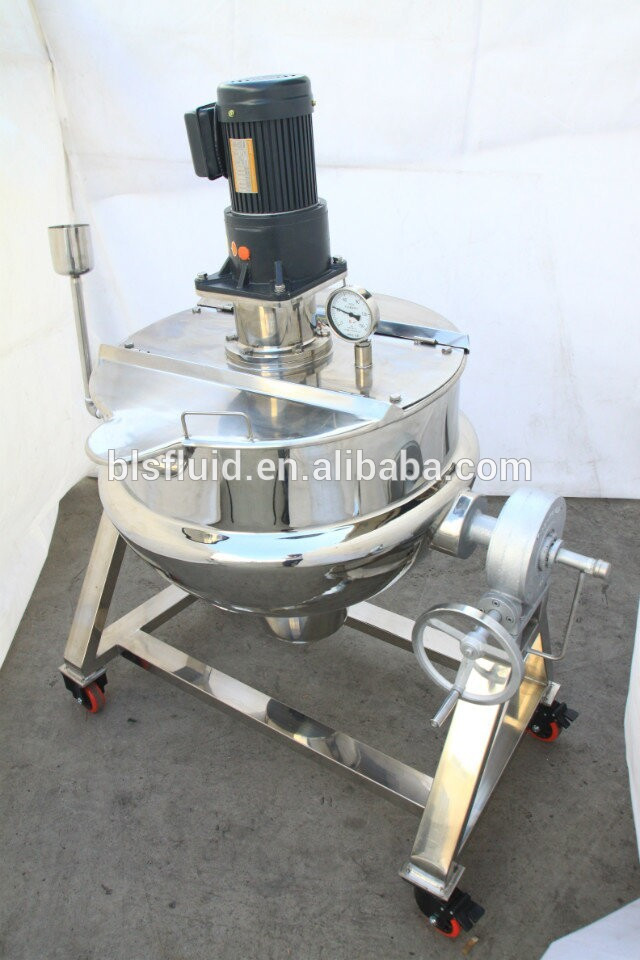 200l stainless steel jam cooking tank with agitator