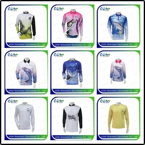 cedd454bc Dye sublimation shirts quick dry upf vented wholesale fishing shirts ...