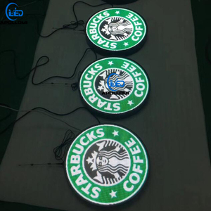 P3mm round circle clock logo led display panel