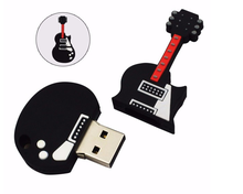 Customized Musical Instruments Special Shape PVC Cartoon Pen Drive from China